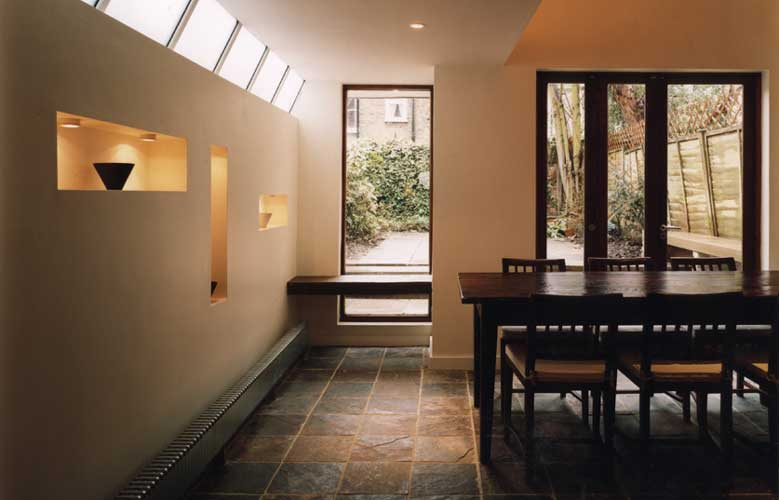 View of a house extension by Chris Scott Architects